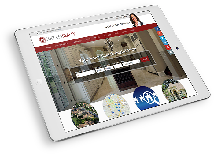real estate website customization