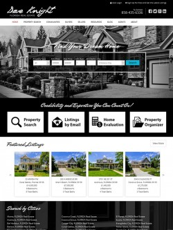 Semi Custom Real Estate Website - Design 2