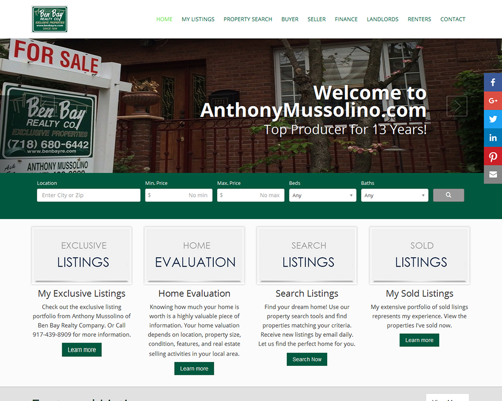 Anthony Mussolino, Ben Bay Realty