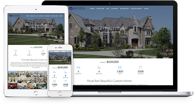 new property website design
