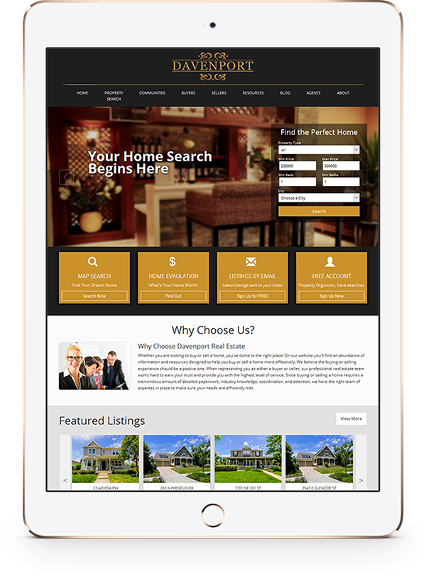 Turnkey Semi Custom Real Estate Website