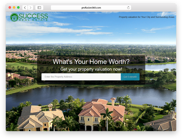 office home valuation landing page